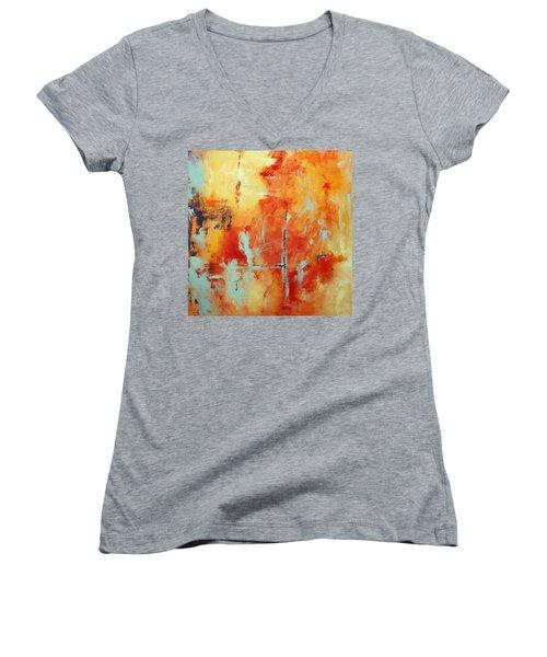 Uncharted Destination Women's V-Neck T-Shirt (Junior Cut) by M Diane Bonaparte