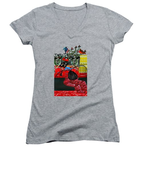Undelighted Women's V-Neck (Athletic Fit)