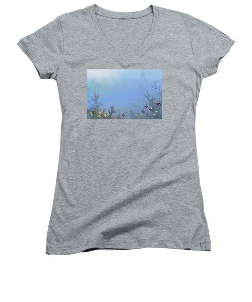 Under Sea 01 Women's V-Neck T-Shirt