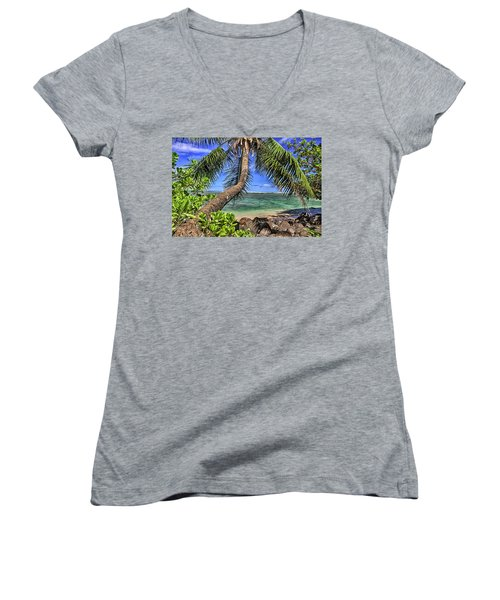 Under The Coconut Tree Women's V-Neck