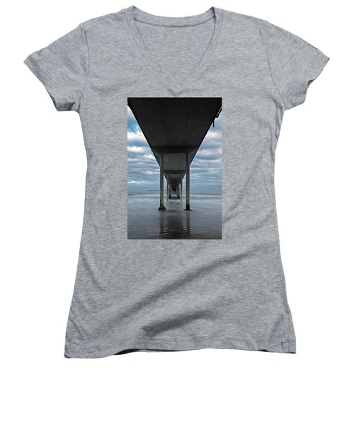 Under The Ocean Beach Pier San Diego Early Morning Women's V-Neck