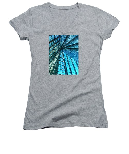 Under The Sea Dwelling Abstract Women's V-Neck T-Shirt