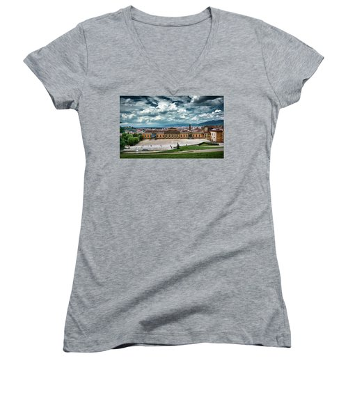 The Meridian Palace And Cityscape In Florence, Italy Women's V-Neck