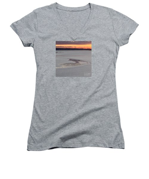 Undercurrents No. 2 Women's V-Neck T-Shirt (Junior Cut)
