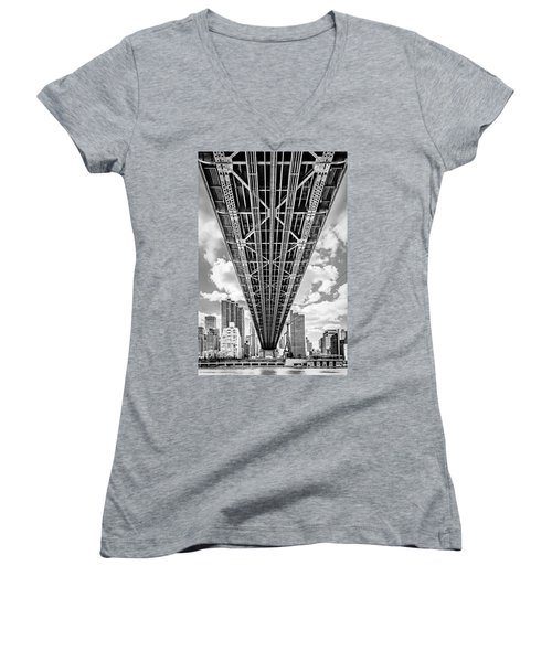 Underneath The Queensboro Bridge Women's V-Neck