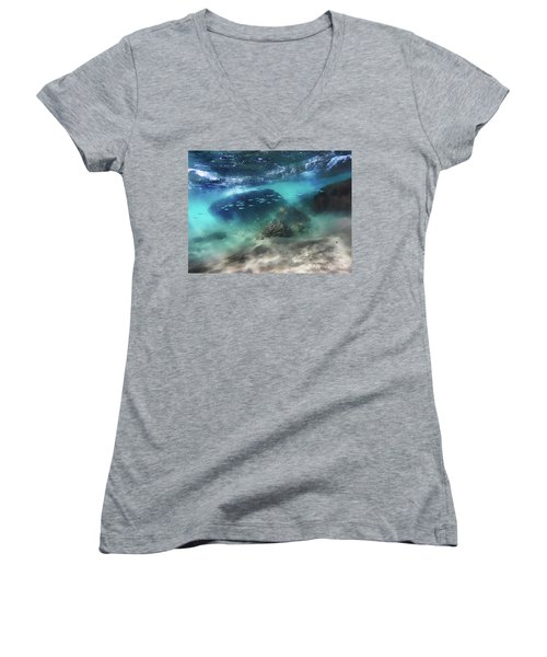 Underwater Women's V-Neck (Athletic Fit)