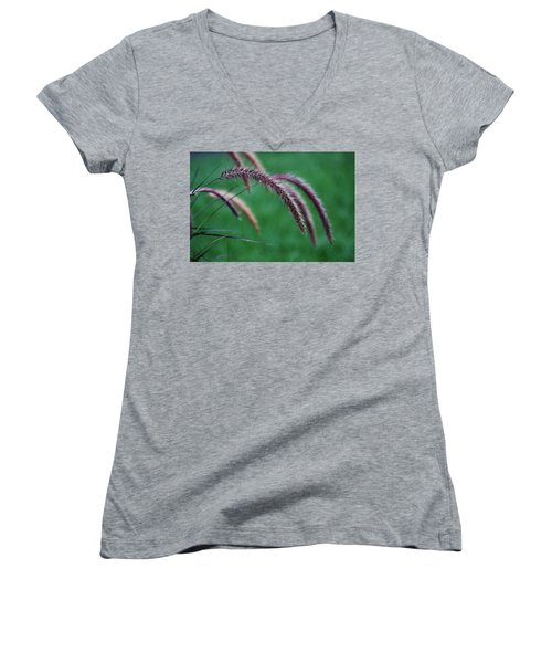 Women's V-Neck T-Shirt featuring the photograph Unexpected Sharpness by Vadim Levin
