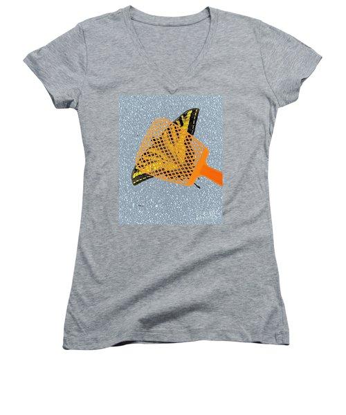Unforgiveable Women's V-Neck T-Shirt (Junior Cut) by Patrick Witz