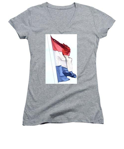 Unfurl 02 Women's V-Neck T-Shirt