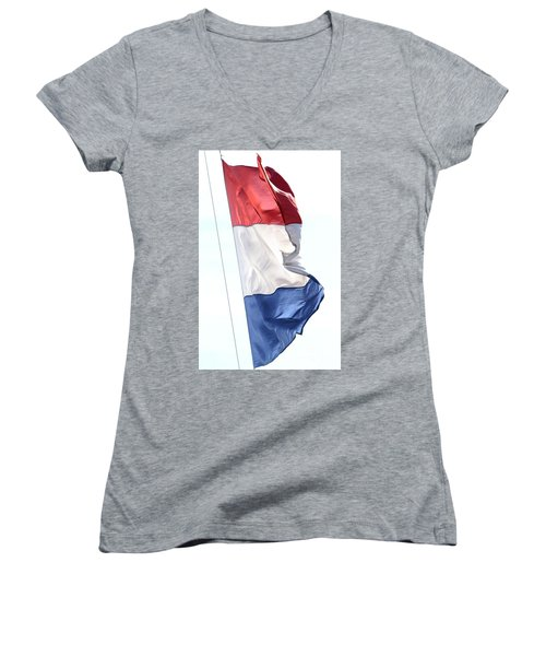 Women's V-Neck (Athletic Fit) featuring the photograph Unfurl 03 by Stephen Mitchell