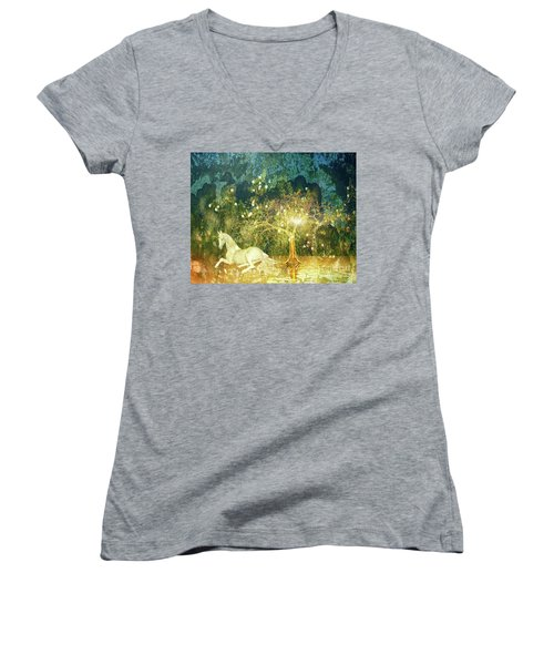 Unicorn Resting Series 3 Women's V-Neck