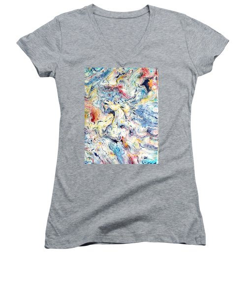 Unicorns And Rainbows  Women's V-Neck T-Shirt