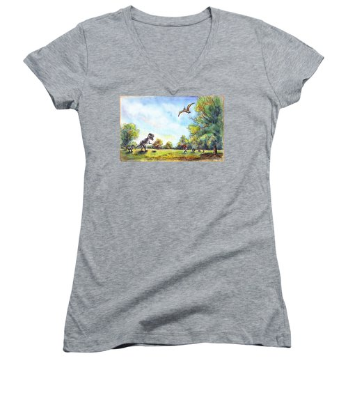Uninvited Picnic Guests Women's V-Neck