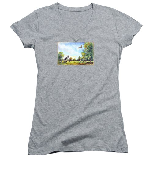 Uninvited Picnic Guests Women's V-Neck (Athletic Fit)