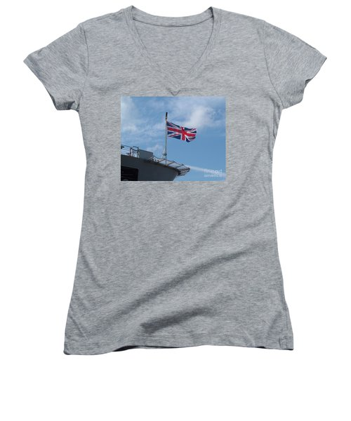Union Jack Women's V-Neck T-Shirt