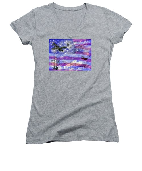 United States Armed Forces One Women's V-Neck (Athletic Fit)