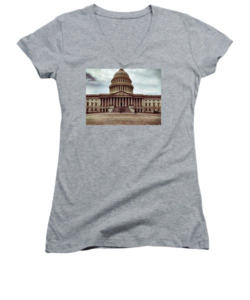 United States Capitol Building Women's V-Neck