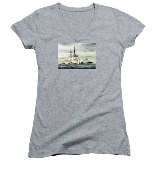 United States Coast Guard Boutwell Women's V-Neck T-Shirt