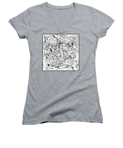 Universal Painting Women's V-Neck T-Shirt (Junior Cut) by Ismael Cavazos
