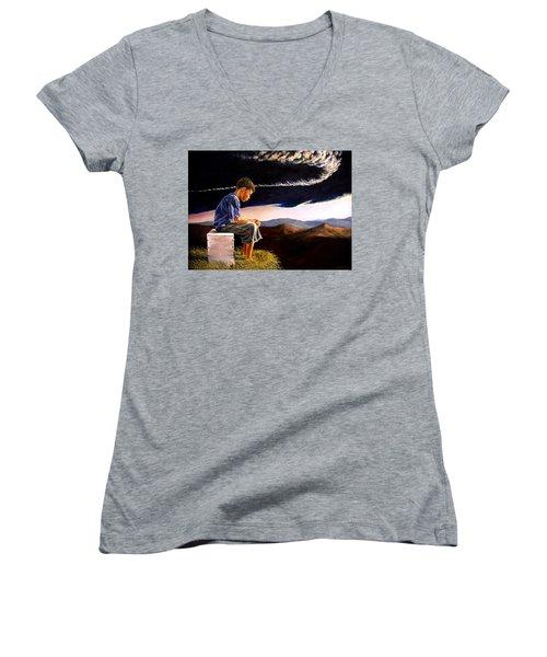 Unscarred Mountain Women's V-Neck T-Shirt