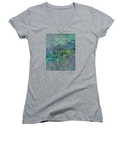 Blind Giverny Women's V-Neck T-Shirt (Junior Cut) by Ralph White