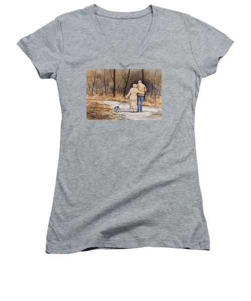 Unspoken Love Women's V-Neck T-Shirt (Junior Cut) by Sam Sidders