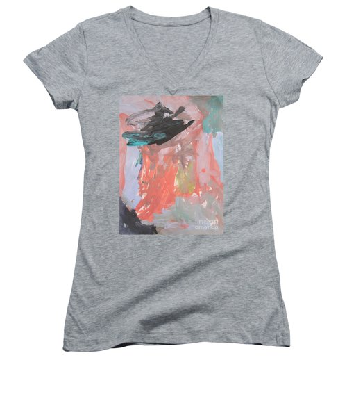 Untitled #11  Original Painting Women's V-Neck (Athletic Fit)