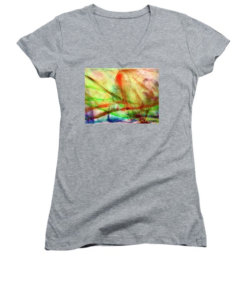 Untitled #140922, From The Soul Searching Series Women's V-Neck T-Shirt