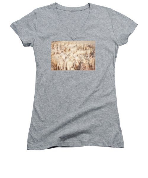 Untitled #3939, From The Soul Searching Series Women's V-Neck T-Shirt