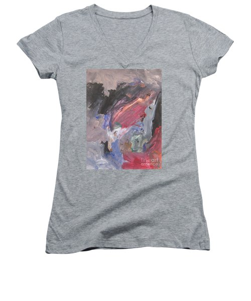Untitled #6  Original Painting Women's V-Neck (Athletic Fit)
