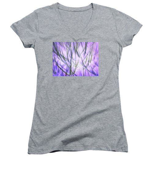 Untitled #8080224, From The Soul Searching Series Women's V-Neck T-Shirt