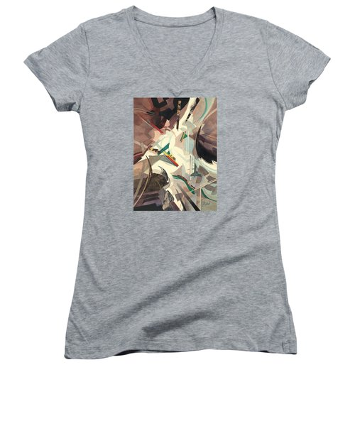 Untitled Abstract Women's V-Neck T-Shirt