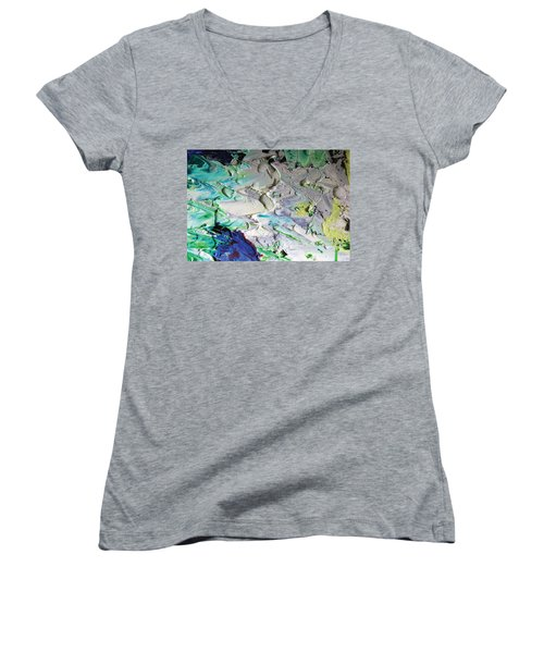 Untitled Abstract With Droplet ## Women's V-Neck (Athletic Fit)