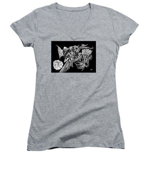 From The Ethers... Women's V-Neck T-Shirt (Junior Cut) by Charles Cater