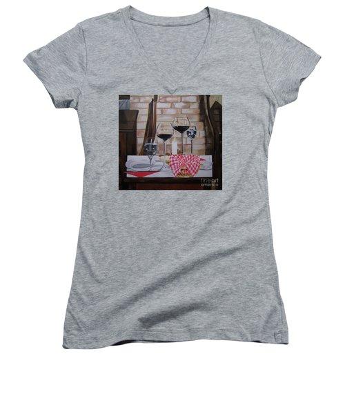 Untitled Women's V-Neck T-Shirt (Junior Cut) by Chelle Brantley