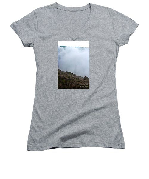 Women's V-Neck T-Shirt (Junior Cut) featuring the photograph The Wall Of Water by Dana DiPasquale