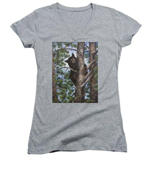 Up A Tree Women's V-Neck