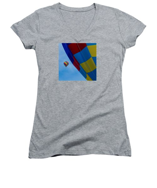 Up And Away 1 12x12 Women's V-Neck T-Shirt