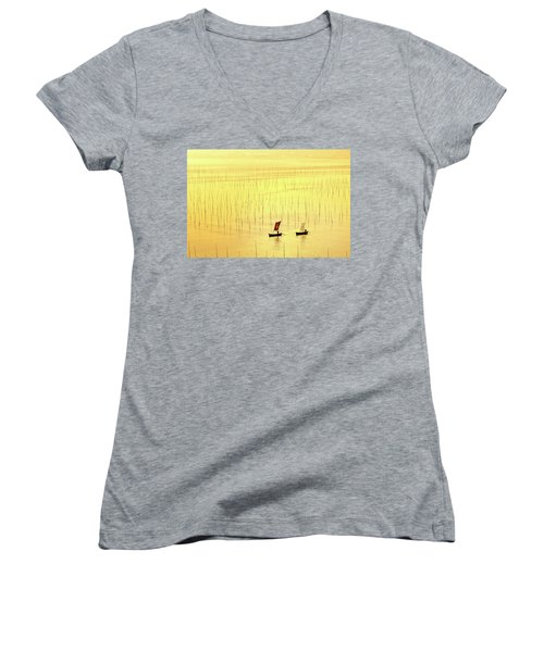 Up At Dawn. Women's V-Neck