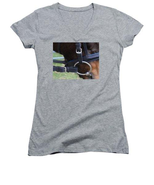 Up Close Bit Women's V-Neck T-Shirt