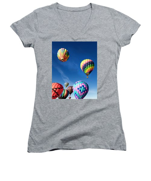 Up In A Hot Air Balloon 2 Women's V-Neck