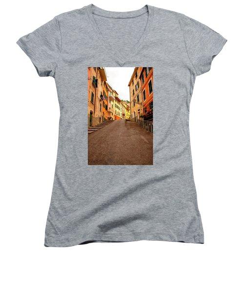Uphill Italian Style Women's V-Neck T-Shirt
