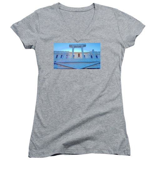 Upside Down White House Women's V-Neck T-Shirt