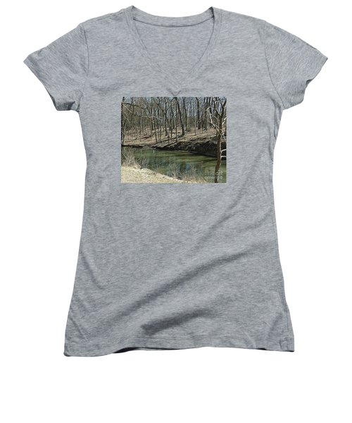 Upstream Women's V-Neck (Athletic Fit)