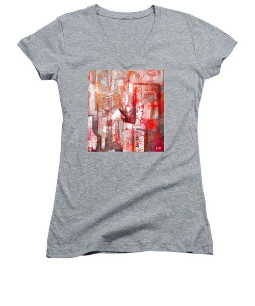 Urban #10 Women's V-Neck T-Shirt (Junior Cut) by Kim Gauge
