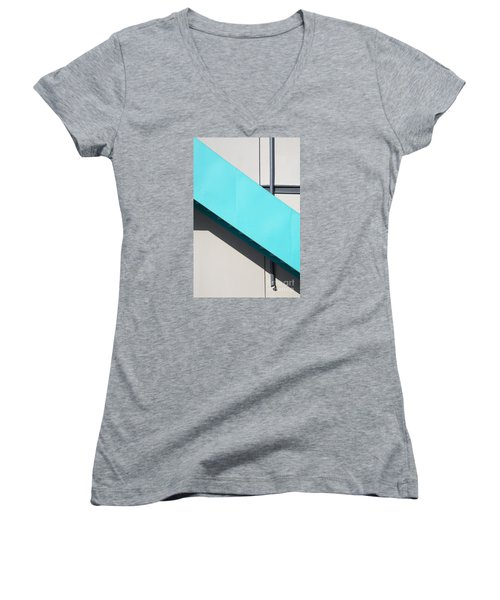 Urban Abstract 1 Women's V-Neck T-Shirt (Junior Cut) by Elena Nosyreva