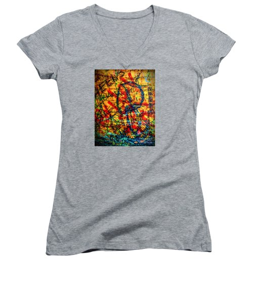 Urban Grunge Two Women's V-Neck T-Shirt (Junior Cut) by Ken Frischkorn