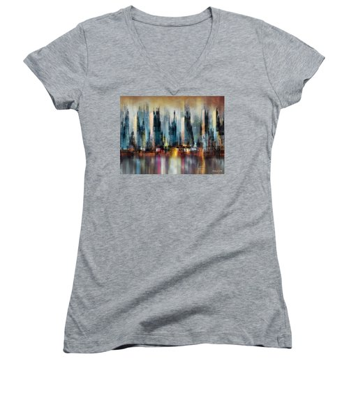 Urban Morning Women's V-Neck T-Shirt