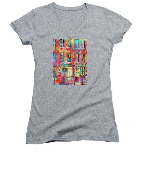 Urban Wall Women's V-Neck T-Shirt