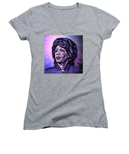 Us Representative Maxine Water Women's V-Neck T-Shirt